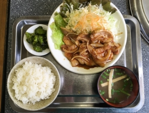 喜楽 生姜焼き定食
